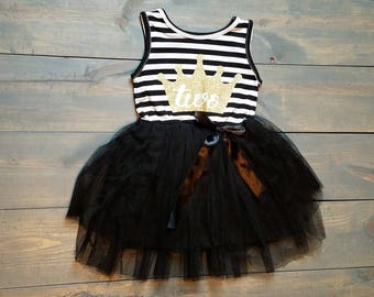 Second Birthday Outfit Toddle Baby Girl Tutu #B-06