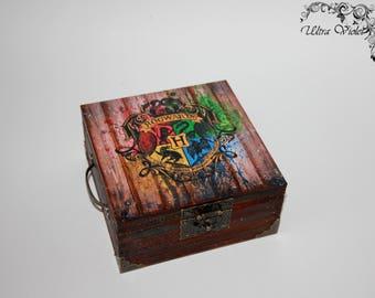 Exclusive tea box, tea,  tea bag,  box, wood, Harry Potter Deathly Hallows