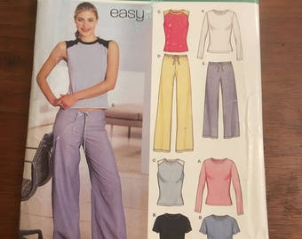 New Look 6160 Pattern for Exercise pants and shirts