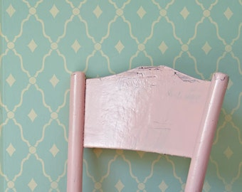 Trellis Wall Stencil - Delicate Romantic Designs Painted on Nursery Wall Decor or Girls Bedroom