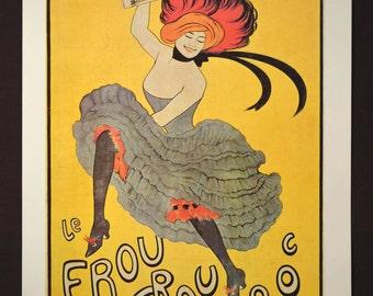 French Can Can Poster Paris Fashion Print Wall Art Parisian