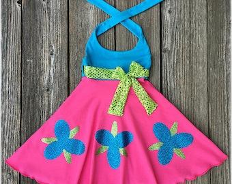 Poppy Troll Dress, Poppy Troll Birthday Party Dress, Poppy Troll Birthday Party Outfit, Poppy Troll Costume
