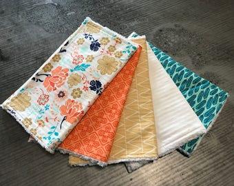 Baby Burp Cloth ~ Set of 5