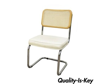 Cesca Breuer Chair Cane Marcel Style Kitchen Dining Italy Mid Century Modern B