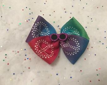 Sunglass Rainbow Hair bow