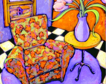 Daniel Ng, Tulip Chair Giclee Print, Signed and Numbered, Limited Edition #21/450