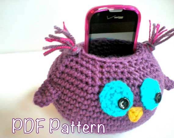 Pattern wise owl cell phone docking charging station easy pattern wise owl cell phone docking charging station easy crochet pdf ipod iphone stand holder instant download permission to sell dt1010fo