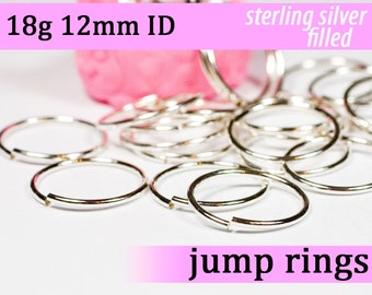 18g 12.0mm ID silver filled jump rings -- 18g12.00 open jumprings
