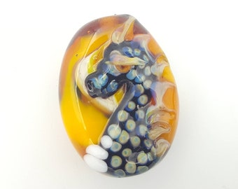 air dragon bead nordic dragon fantasy jewellery lampwork bead glass art small gift unique gift one of a kind glass animal sculpture