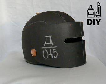 DIY Rainbow Six - Tachanka helmet template for EVA foam