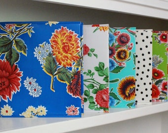 3-ring binder cover - oilcloth cover - household planner - birthday gift - gift for her - teacher gift