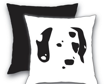 Dalmatian, Dog Pillow Cover, Dog Pillow Cover, Dog Mom Throw Pillow, Designer Dog Pillow Cover, Dalmatian Mom, White Black or Red Back Panel