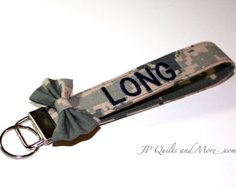 Custom Embroidered Bow Military Wristlet - Army, Air Force & Marines