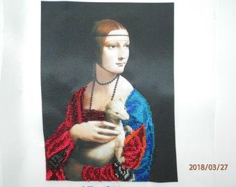 "Picture ""Lady with Ermine"" beads. (Dama con l'ermellino)"