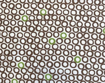 MINGLE Cocoa & Green, Robert Kaufman, 100% Cotton Quilting Fabric Apparel, Fabric by the Yard