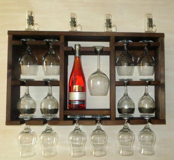 Rack botellero madera marrón repisa estante de cocina