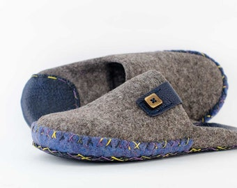 PerfectFelt wool slippers for men  - house shoes - house slippers
