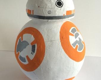 Star Wars Pinata BB8 - Star Wars Party Supplies - Star Wars Birthday Party Ideas -Birthday Party Game ideas for kids - Custom Pinata