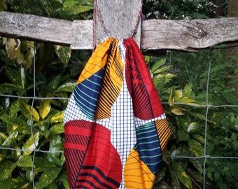 African print drawstring Backpack