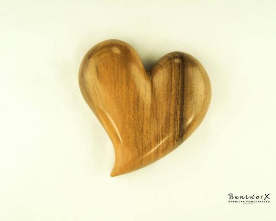 "Valentine's Gift ""Beautiful Whimsical"" English Walnut Heart Wall Art   Bentworx™"