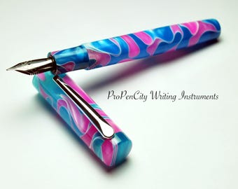 Cotton Candy 1440T Custom Fountain Pen with Jowo Nib