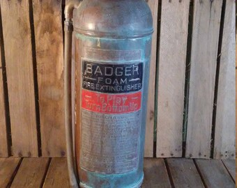 Copper Fire Extinguisher, Badger Fire Extinguisher