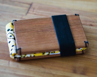 Wooden Wallet: Cherry and requested color insert.