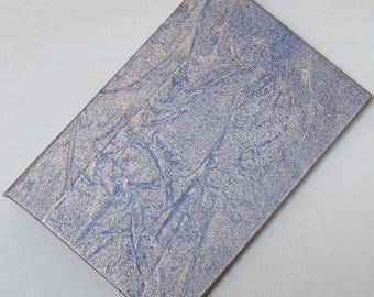 Refillable Journal Handmade Distressed gold Blue frost Original 6x4 traveller notebook