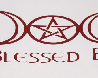 Blessed Be Vinyl Decal