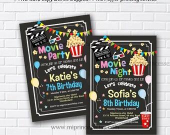 Movie party movie night birthday invitation printable movie party invitation movie party movie night kids birthday girl birthday boy birthday sleepover party kids party card 950 stopboris Gallery