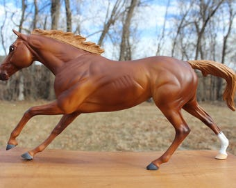 Hand Painted Breyer Thoroughbred Chestnut OOAK