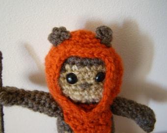 PDF Crochet pattern Star Wars Amigurumi Ewok Crochet doll