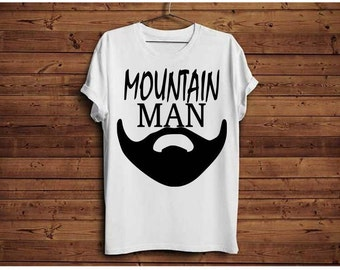 Mountain man svg, Fathers day svg, Mountain svg, Beard svg, Lumberjack svg, png, dxf, Cabin wall art, Cabin home decor, Beard clip art, Guy