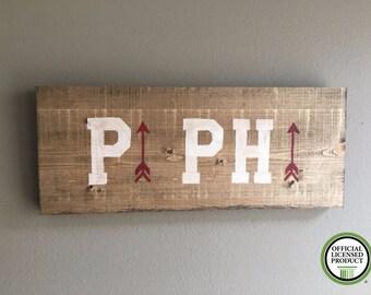 Pi Beta Phi wood handmade sign outline arrow