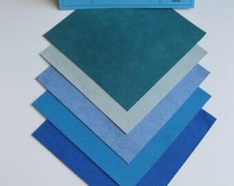 Ultrasuede Soft Beautiful Blue Hues 5x5 Squares