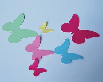 Butterfly Wall Decoration, Butterfly Cutouts, Butterfly Party Decor, Butterfly Birthday, Custom Parties by PartyAtYourDoor on Etsy