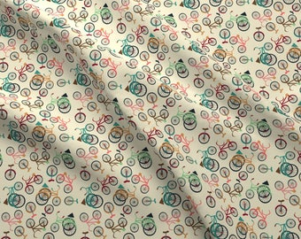 Bikes Fabric - Bikes By Heidikenney - Bikes Cute Colorful Vintage Bicycles Tricycles Cotton Fabric By The Yard With Spoonflower