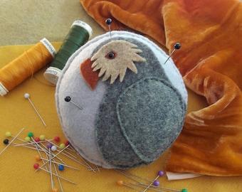 Kakapo Felt Pincushion designed by Cherry Parker