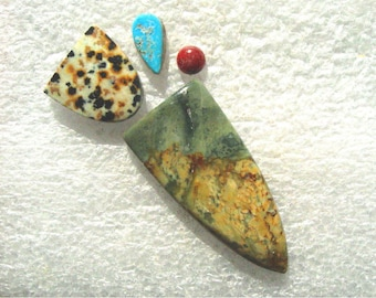Morrisonite Jasper with Dalmatian Jasper, Turquoise, and Red Jasper Group