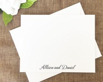 Contempo Thank You Notes, Modern Notes, Wedding Thank You Notes, Black and White Thank You Notes, Simple, Set of 25 Cards
