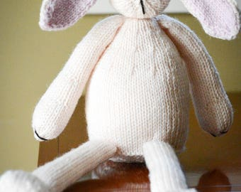 Handmade Knitted Bunny Rabbit, Stuffed Animal, Toy, Great Gift for Baby, Knitted Toy