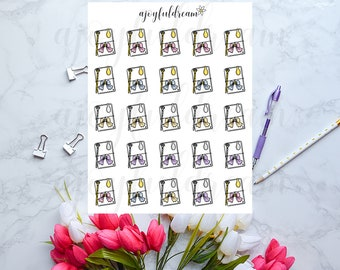 Planners With Pastel Bows Doodles - Planner Stickers