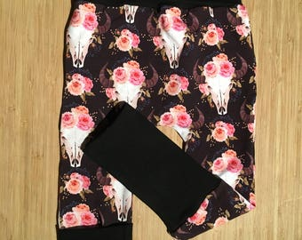 Oxen evolutionary pants with flowers