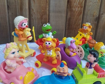 Vintage 80's McDonald's Toys, Cake Toppers, Retro Toys, Muppets, 80s Collectible Happy Meal Toys.