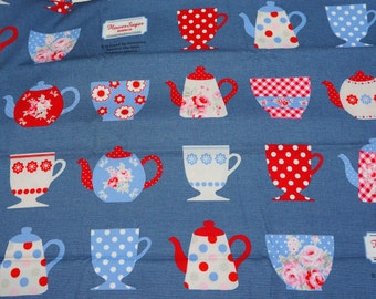 Kitchen theme Japanese Fabric Half Meter  50 cm by 106 cm or 19.6 by 42 inches nc51