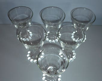 Set of 6 in the Boopie Glass Style Bubble Design Candlewick Style Berwick Anchor Hocking Burple Glass Bubble Glass