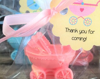 Baby Girl Carriage/Stroller Soap Favors: Baby Sprinkle Favors, Baby Shower Favors, Baby Carriage Favors, Baby Stroller Favors, Doll Favors