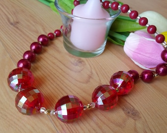 Red Jeweled Dream Necklace
