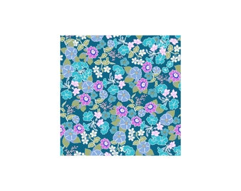 Garden Delights II 1GSF-3 Teal by In The Beginning Cotton Fabric Yardage