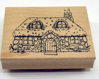 Cottage House Rubber Stamp
